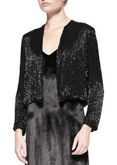 Kevin Sequined Cropped Evening Jacket   Kevin Sequined Cropped Evening Jacket