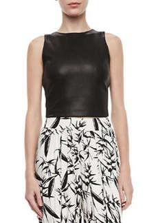 Lorita Leather Crop Top   Lorita Leather Crop Top