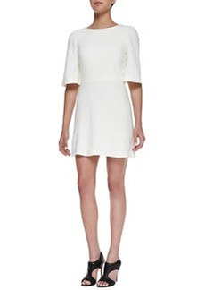 Maely Textured Bell-Sleeve Dress   Maely Textured Bell-Sleeve Dress