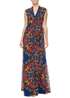 Marianna Printed Button-Front Maxi Dress   Marianna Printed Button-Front Maxi Dress