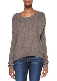 Mixed-Knit Loose Sweater   Mixed-Knit Loose Sweater