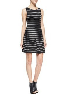 Monah Shimmery Striped Knit Dress   Monah Shimmery Striped Knit Dress