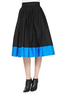 Nako Full Contrast-Hem Skirt   Nako Full Contrast-Hem Skirt