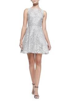 Natalia Open-Back Lace A-Line Dress   Natalia Open-Back Lace A-Line Dress