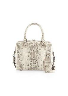 Olivia Snake-Print Satchel Bag, Natural   Olivia Snake-Print Satchel Bag, Natural