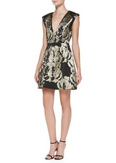Pacey Metallic Jacquard Structured Dress   Pacey Metallic Jacquard Structured Dress