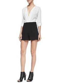Pilca Two-Tone Combo Short Jumpsuit   Pilca Two-Tone Combo Short Jumpsuit