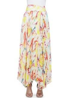 Printed Pleated Maxi Skirt   Printed Pleated Maxi Skirt