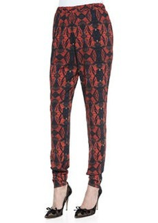 Printed Pull-On Tapered Pants   Printed Pull-On Tapered Pants