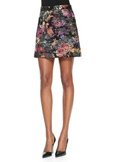 Riley Metallic Embroidered Short Skirt   Riley Metallic Embroidered Short Skirt
