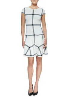 Selma Checkered-Knit Dropped-Waist Dress   Selma Checkered-Knit Dropped-Waist Dress