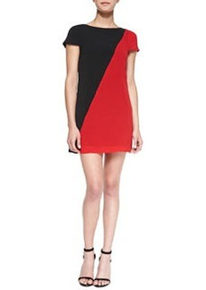 Serina Diagonal Two-Tone Dress   Serina Diagonal Two-Tone Dress