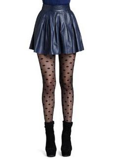 Short Pleated Leather Skirt   Short Pleated Leather Skirt