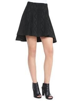 Sibel High-Low Patterned Skirt   Sibel High-Low Patterned Skirt