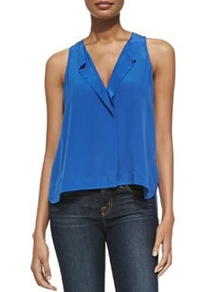 Sleeveless Hidden-Placket Top   Sleeveless Hidden-Placket Top