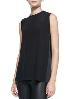 Sleeveless Open Cowl-Back Top   Sleeveless Open Cowl-Back Top