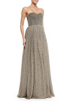 Surin Sequined Cinched-Waist Ball Gown   Surin Sequined Cinched-Waist Ball Gown