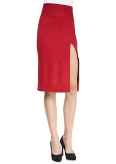 Tani Front-Slit Knit Pencil Skirt   Tani Front-Slit Knit Pencil Skirt