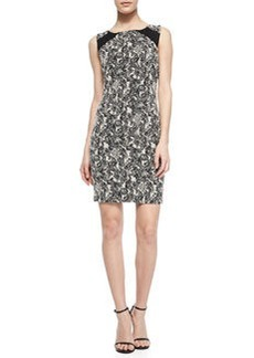 Thalia Paisley-Print Fitted Dress   Thalia Paisley-Print Fitted Dress