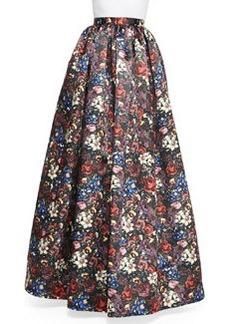 Tina Floral-Print Ball Skirt   Tina Floral-Print Ball Skirt