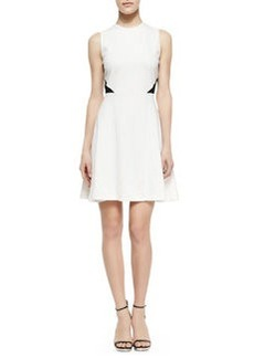 Two-Tone Fit And Flare Dress   Two-Tone Fit And Flare Dress