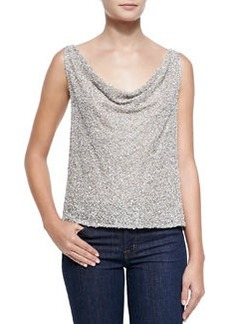 Viola Open-Back Sequined Top   Viola Open-Back Sequined Top