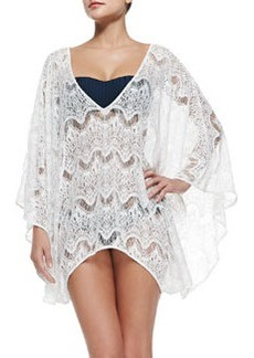 Violet Sheer Lace Arched Coverup   Violet Sheer Lace Arched Coverup