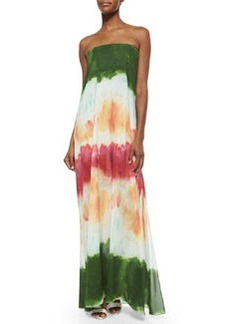 Alice + Olivia Yulissa Watercolor Strapless Maxi Dress, Multi