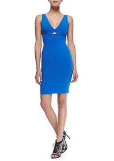 Yve Front-Cutout Fitted Dress   Yve Front-Cutout Fitted Dress