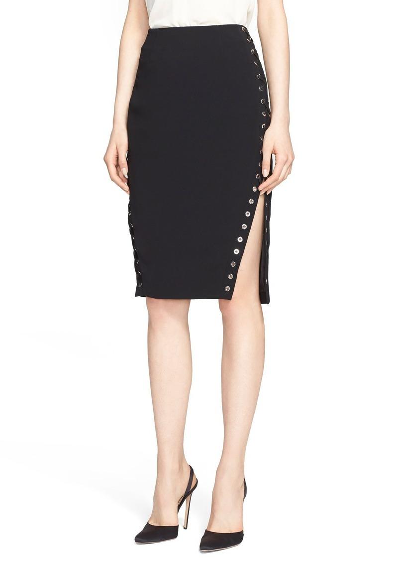 altuzarra altuzarra lace up side pencil skirt skirts