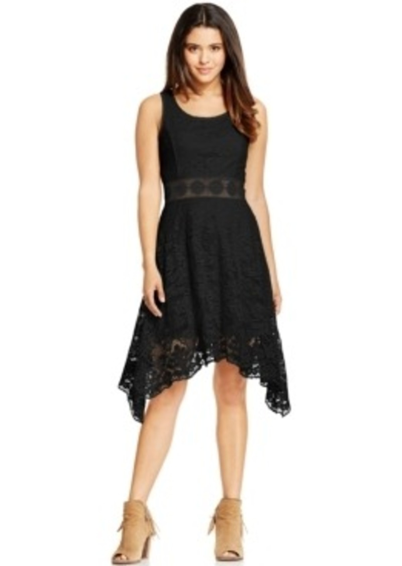 Innovative Komarov Lace Amp Chiffon Handkerchief Hem Dress  Nordstrom