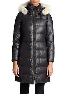 Andrew Marc Arden Fur-Trimmed Puffer Jacket