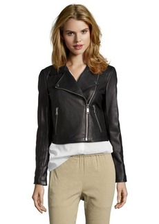 Andrew Marc black leather 'Caitlyn' asymmetrical motorcycle jacket