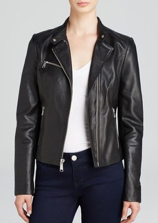 Andrew Marc Casey Structured Moto Leather Jacket