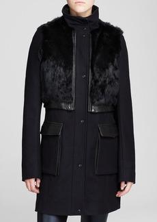 Andrew Marc Coat - Larissa Modern Convertible with Rabbit Vest