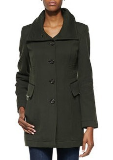 Andrew Marc Combat Twill Button-Down Coat