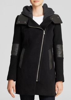 Andrew Marc Corey Asymmetrical Zip Coat