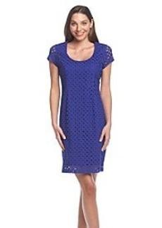 Andrew Marc® Crochet Shift Dress