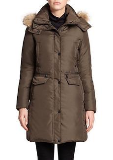 Andrew Marc Darby Fur-Trim Down Coat