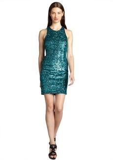 Andrew Marc dark emerald sequin dress