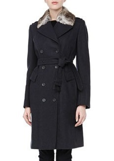 Andrew Marc Faith Double-Breasted Belted Trench Coat