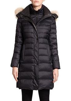Andrew Marc Gayle Fur-Trim Down Coat