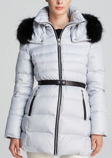Andrew Marc Gina Belted Luxe Down Coat