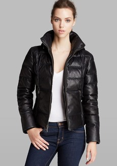 Andrew Marc Jacket - Taryn Hooded Down Leather