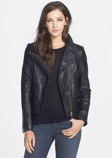 Andrew Marc 'Natasha' Shrunken Lambskin Leather Jacket