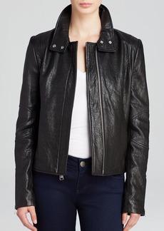 Andrew Marc Natasha Textured Leather Jacket