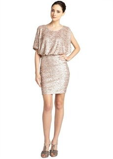 Andrew Marc nude batwing sequin dress
