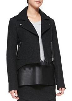 Andrew Marc x Richard Chai Bonded Wool High-Low Jacket