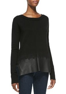 Andrew Marc x Richard Chai Wool/Cashmere Scoop-Neck Sweater
