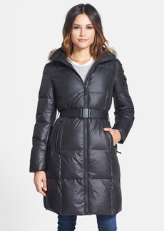 Marc New York 'Abbie' Down & Feather Fill Coat with Genuine Fur Trim (Online Only)